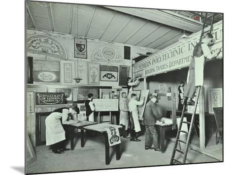 Students from Trade Classes, Northern Polytechnic, London, 1911--Mounted Photographic Print