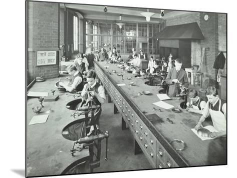 The Silversmiths Room, Central School of Arts and Crafts, Camden, London, 1911--Mounted Photographic Print
