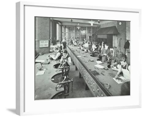 The Silversmiths Room, Central School of Arts and Crafts, Camden, London, 1911--Framed Art Print