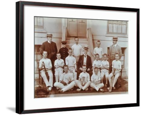 Cricket Team at the Boys Home Industrial School, London, 1900--Framed Art Print
