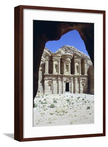 El Deir (The Monastery), Petra, Jordan-Vivienne Sharp-Framed Art Print