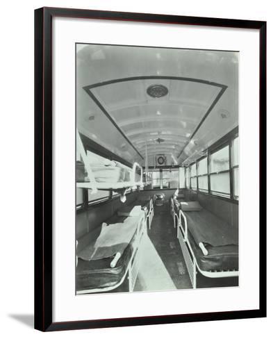 Interior of Coach Type Ambulance, Western Ambulance Station, Fulham, 1935--Framed Art Print
