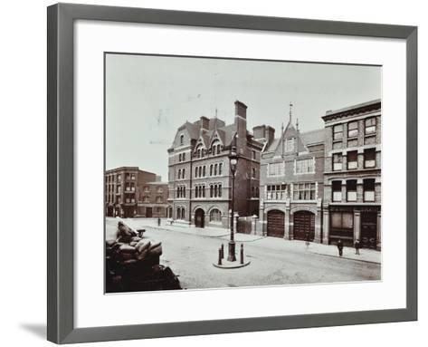 Whitechapel Fire Station, Commercial Road, Stepney, London, 1902--Framed Art Print