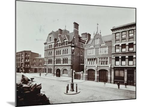 Whitechapel Fire Station, Commercial Road, Stepney, London, 1902--Mounted Photographic Print