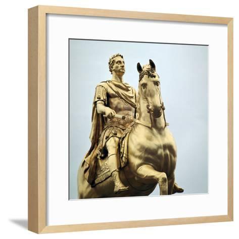 Equestrian Statue of King William Iii, 18th Century-Peter Scheemakers-Framed Art Print