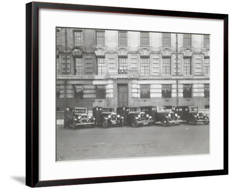 Official London County Council Cars and Chauffeurs, County Hall, London, 1935--Framed Art Print