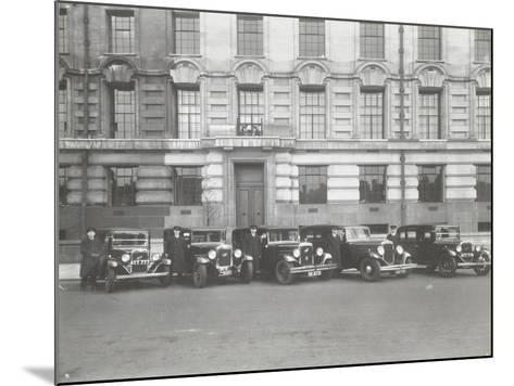 Official London County Council Cars and Chauffeurs, County Hall, London, 1935--Mounted Photographic Print