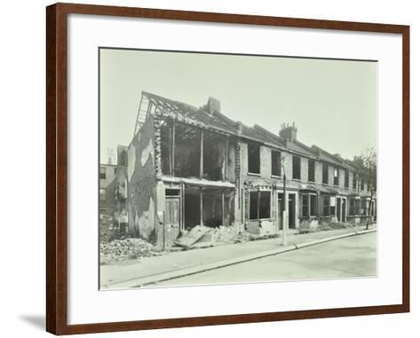 Bombed Houses, Trigo Road, Poplar, London, Wwii, 1943--Framed Art Print
