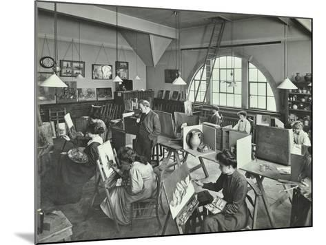 Female Students Painting Still Lifes, Hammersmith School of Arts and Crafts, London, 1910--Mounted Photographic Print