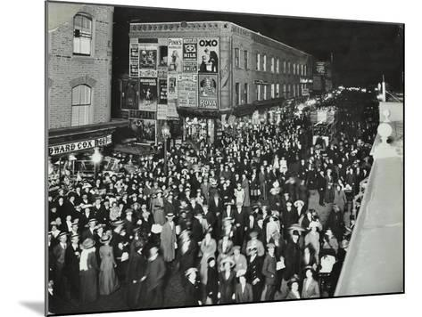 Crowds of Shoppers in Rye Lane at Night, Peckham, London, 1913--Mounted Photographic Print