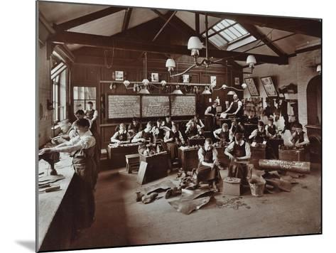 Boys Making Shoes at the Anerley Residential School for Elder Deaf Boys, Penge, 1908--Mounted Photographic Print