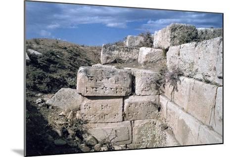 Cuneiform Inscriptions on Stones, Ruined Aqueduct, Jerwan, Iraq, 1977-Vivienne Sharp-Mounted Photographic Print
