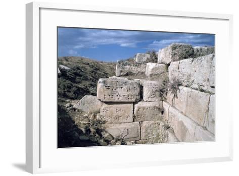 Cuneiform Inscriptions on Stones, Ruined Aqueduct, Jerwan, Iraq, 1977-Vivienne Sharp-Framed Art Print