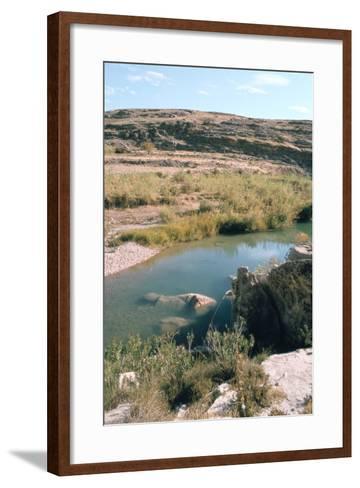 Sunken Assyrian Sculpture, Bavian, Iraq, 1977-Vivienne Sharp-Framed Art Print