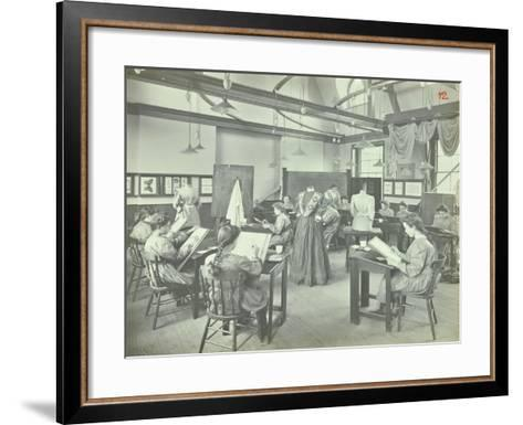 Ready Made Clothing Class, Shoreditch Technical Institute, London, 1907--Framed Art Print
