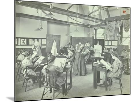 Ready Made Clothing Class, Shoreditch Technical Institute, London, 1907--Mounted Photographic Print