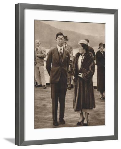 Prince and Princess Chichibu Arriving on the Queen Mary, April 12Th, 1937--Framed Art Print