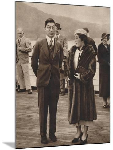 Prince and Princess Chichibu Arriving on the Queen Mary, April 12Th, 1937--Mounted Photographic Print