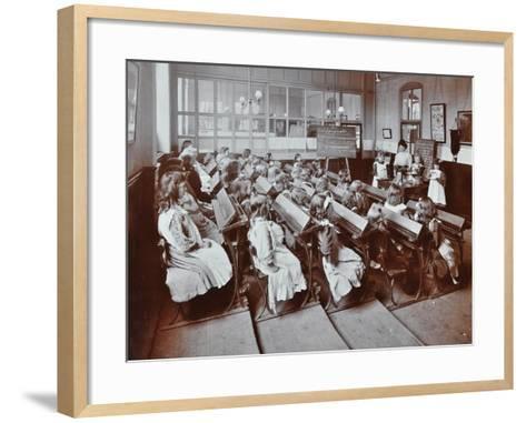 Chemistry Lesson, Albion Street Girls School, Rotherhithe, London, 1908--Framed Art Print