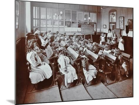 Chemistry Lesson, Albion Street Girls School, Rotherhithe, London, 1908--Mounted Photographic Print