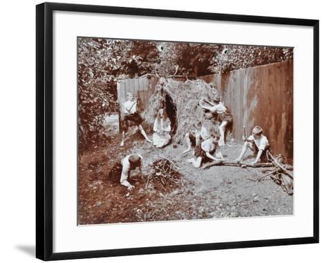 Children Dressed as Prehistoric Cave Dwellers, Birley House Open Air School, London, 1908--Framed Art Print