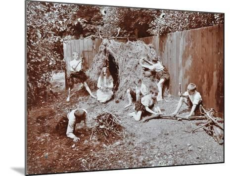Children Dressed as Prehistoric Cave Dwellers, Birley House Open Air School, London, 1908--Mounted Photographic Print