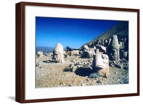 Ancient Stone Heads, Mount Nemrut, Adiyaman, Turkey-Vivienne Sharp-Framed Art Print