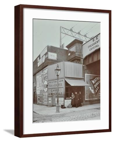 Uncle Toms Cabin Tea Stall, Wandsworth Road, London, 1909--Framed Art Print