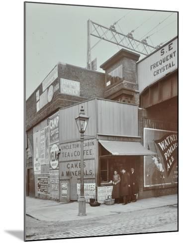 Uncle Toms Cabin Tea Stall, Wandsworth Road, London, 1909--Mounted Photographic Print