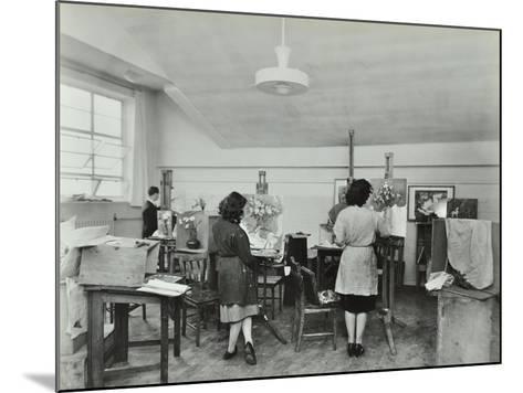 Still Life Class, Saint Martins School of Art, London, 1939--Mounted Photographic Print