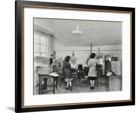 Still Life Class, Saint Martins School of Art, London, 1939--Framed Art Print
