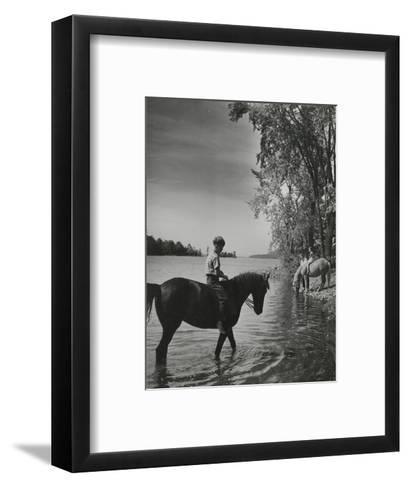 Vogue - September 1943-Serge Balkin-Framed Art Print