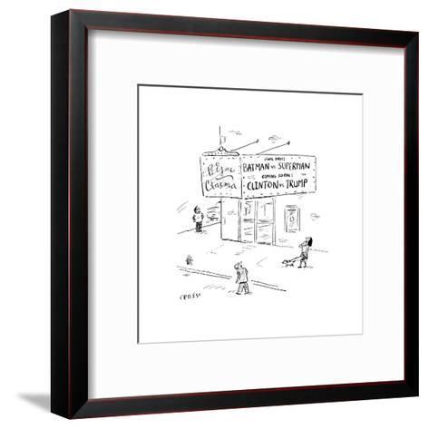 Batman vs SupermanClinton vs Trump - Cartoon-David Sipress-Framed Art Print