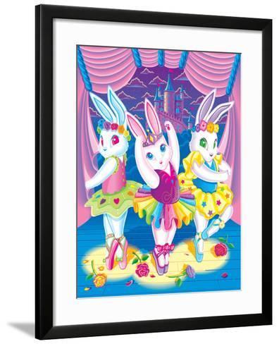 Ballerina Bunnies '98-Lisa Frank-Framed Art Print