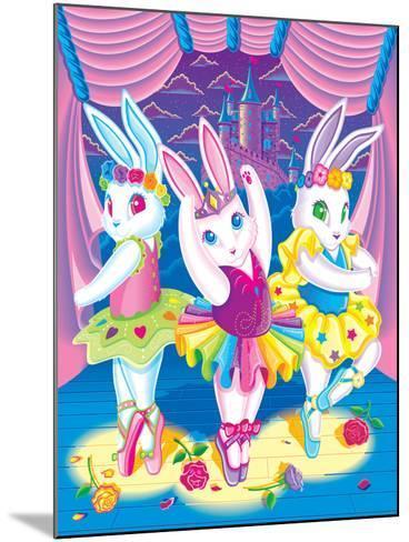Ballerina Bunnies '98-Lisa Frank-Mounted Art Print