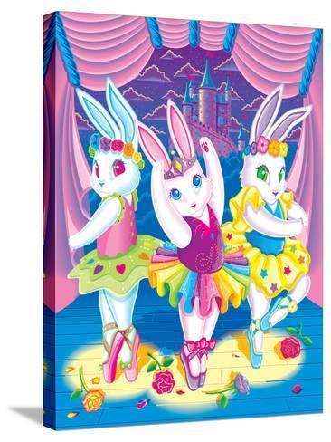 Ballerina Bunnies '98-Lisa Frank-Stretched Canvas Print