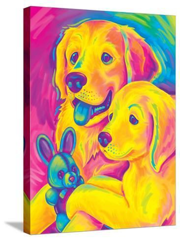 Brushstroke Casey Caymus-Lisa Frank-Stretched Canvas Print