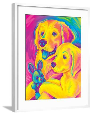 Brushstroke Casey Caymus-Lisa Frank-Framed Art Print