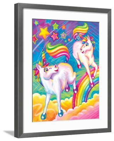 Brushstroke Unicorns-Lisa Frank-Framed Art Print