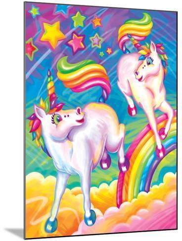 Brushstroke Unicorns-Lisa Frank-Mounted Art Print