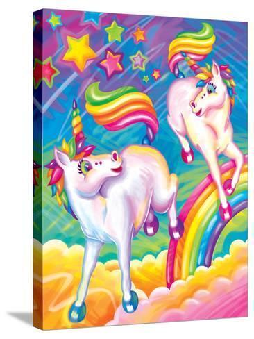 Brushstroke Unicorns-Lisa Frank-Stretched Canvas Print