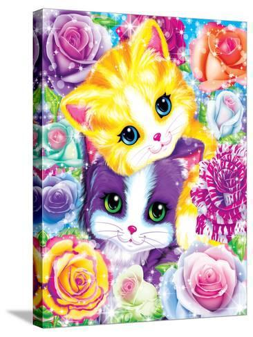 Kitten Roses-Lisa Frank-Stretched Canvas Print