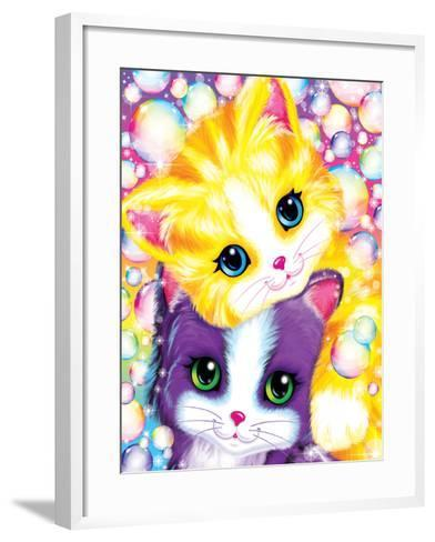 Kitten Cuddles-Lisa Frank-Framed Art Print