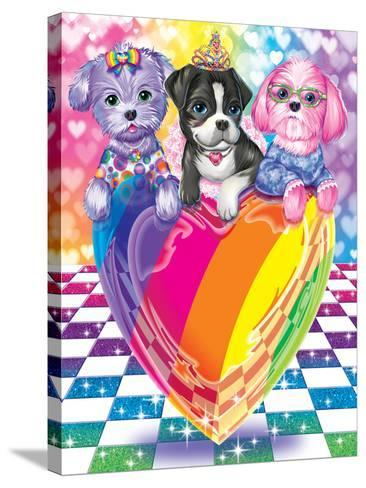 Puppy Love-Lisa Frank-Stretched Canvas Print