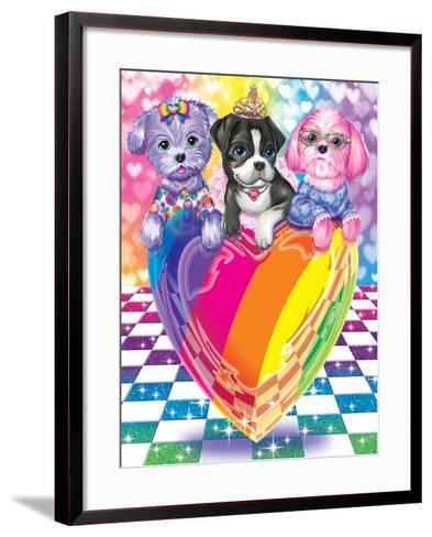 Puppy Love-Lisa Frank-Framed Art Print