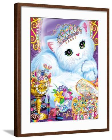Purrscilla-Lisa Frank-Framed Art Print