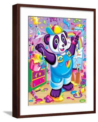 Panda Painter '93-Lisa Frank-Framed Art Print