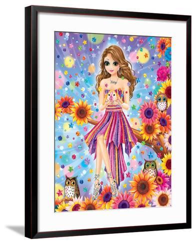 Tatey Bug-Lisa Frank-Framed Art Print
