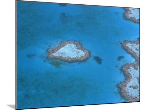 Aerial View of the Heart Reef, Hardy Reef, Great Barrier Reef, Queensland, Australia-Jurgen Freund-Mounted Photographic Print