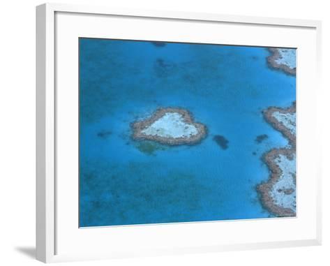 Aerial View of the Heart Reef, Hardy Reef, Great Barrier Reef, Queensland, Australia-Jurgen Freund-Framed Art Print